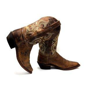 JUSTIN Western Boot Bent Rail Women Distressed USA